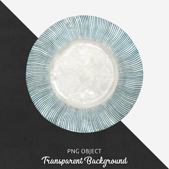 Piatto da portata decorativo fantasia su trasparente