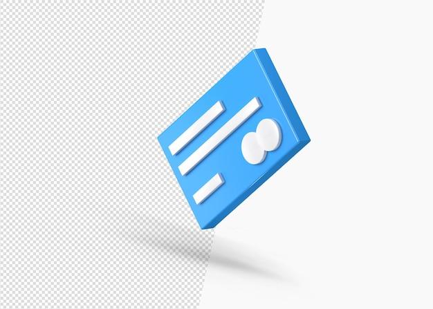 Pagamento tramite carta di credito isolato colorato 3d icona