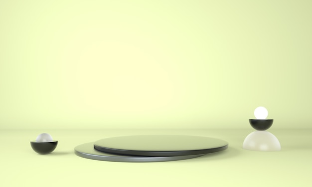 Piedistallo per display, piattaforma per la progettazione rendering 3d