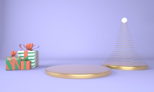 Piedistallo per esposizione per supporto prodotto in rendering 3d