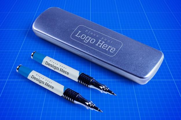 Mockup box penna