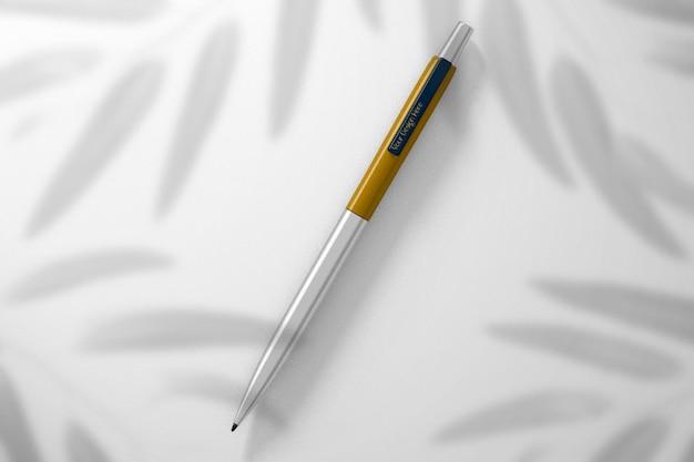 Mockup di penna per merchandising isolato