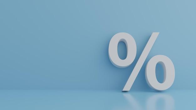 Segno di percentuale appoggiato al muro