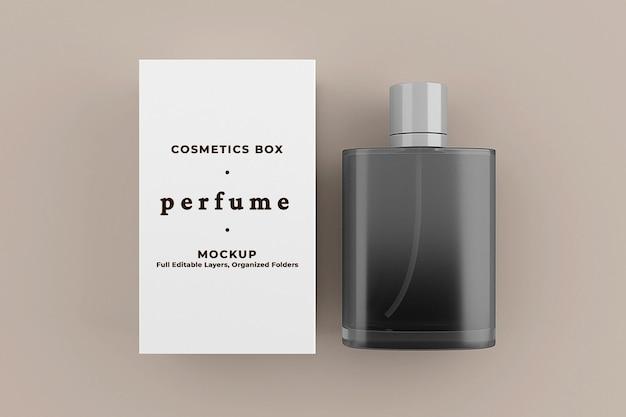 Modello di mockup per l'imballaggio della scatola del profumo
