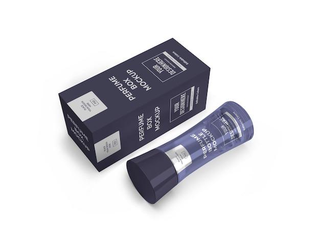 Modello di mockup di confezione di profumo isolato