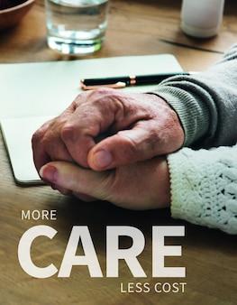 Modello di assicurazione sulla vita personale psd più attenzione a meno costi manifesto pubblicitario