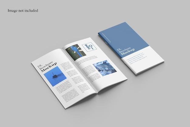 Prospettiva dl brochure mockup