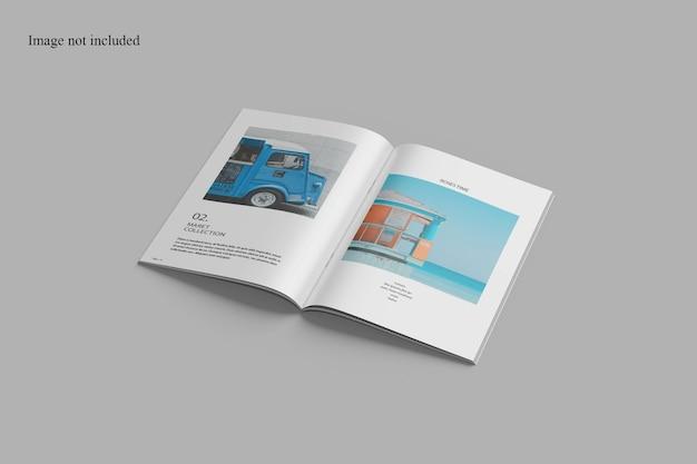 Marchio aziendale perspective magazine mockup