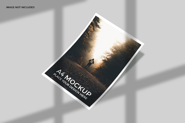 Mockup di flyer vista prospettica isolato