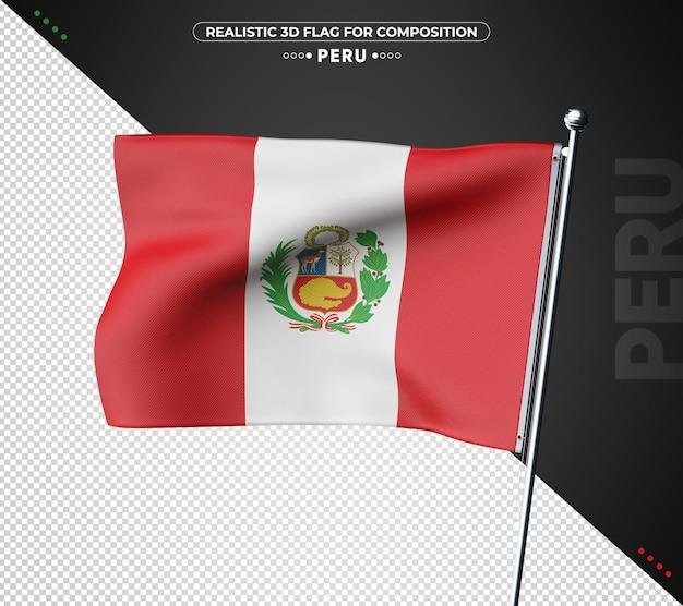 Perù 3d bandiera testurizzata per la composizione