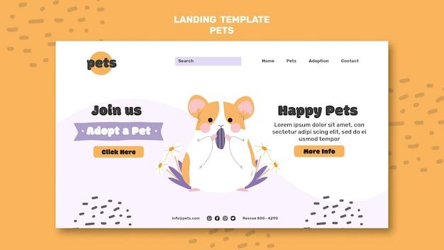 Pagina di destinazione per l'adozione di animali domestici