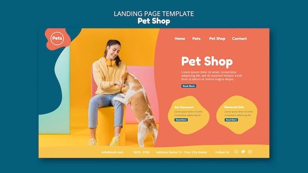 Pagina di destinazione del negozio di animali