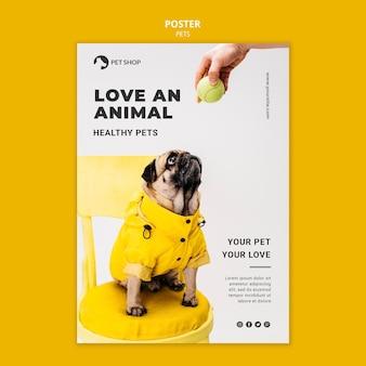 Modello di stampa animali domestici con foto