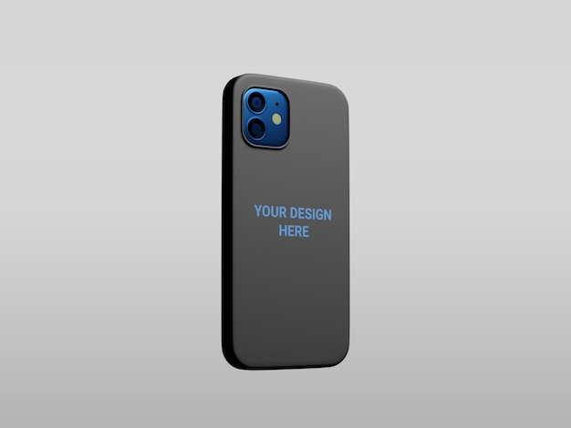 Mockup di cassa del telefono isolato