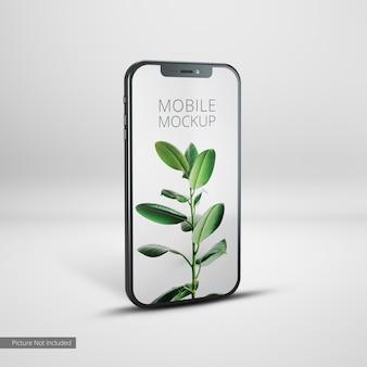 Mockup di vista laterale del dispositivo mobile del telefono