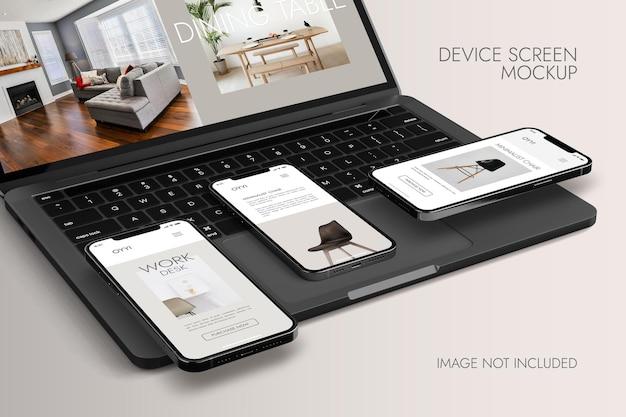 Schermo del telefono e del notebook - device mockup