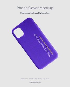 Mockup di copertura in gomma per telefono