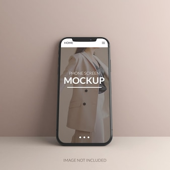 Progettazione di mockup dello schermo del telefono in rendering 3d