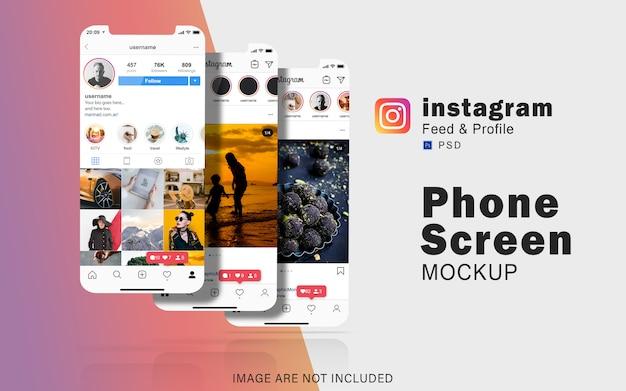 Set di modelli di schermo del telefono