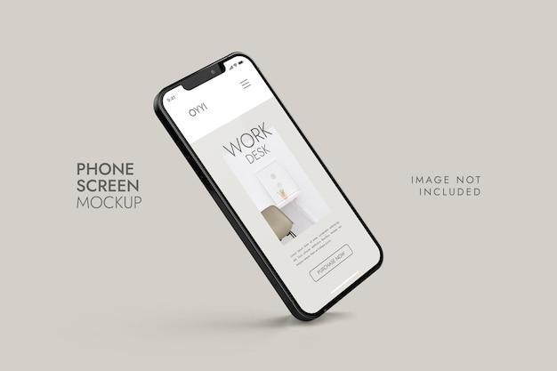 Telefono e schermo - mockup di presentazione dell'app ui ux