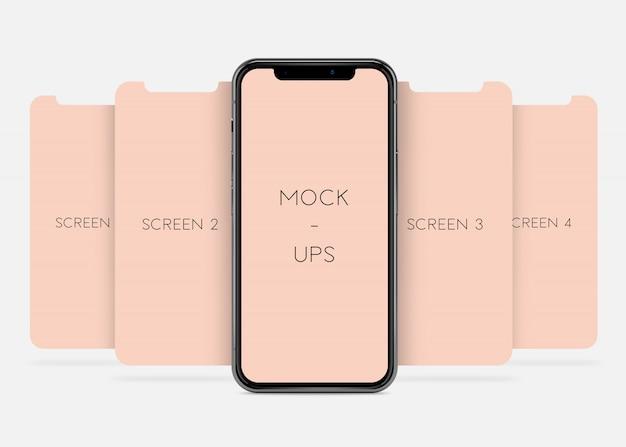 Telefono x - presentazione dell'app mock-up