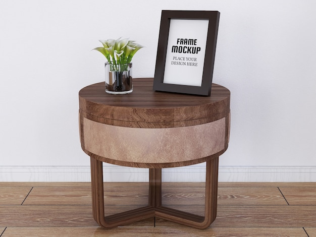 Photo frame mockup sulla mini desk
