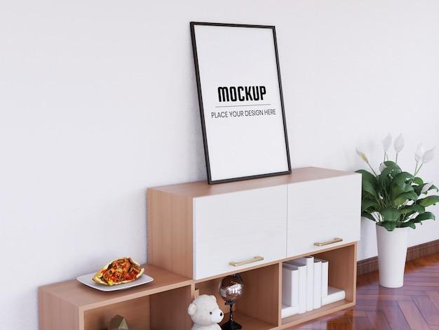 Photo frame mockup realistico sulla scrivania