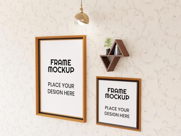 Photo frame mockup sul muro