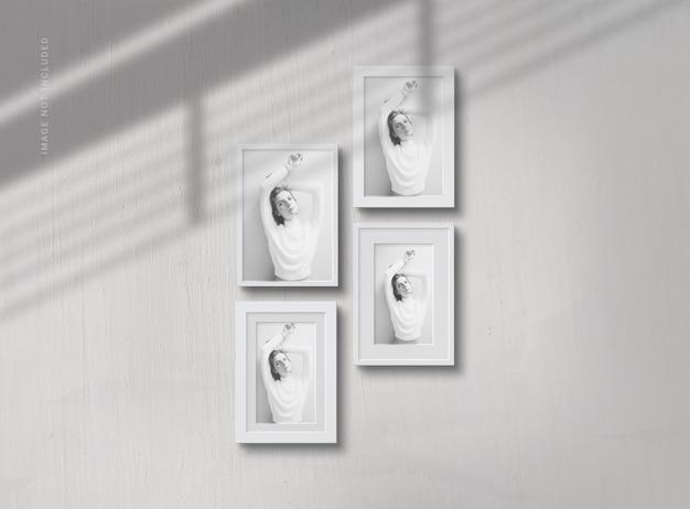 Mockup di cornice per foto con elegante ombra