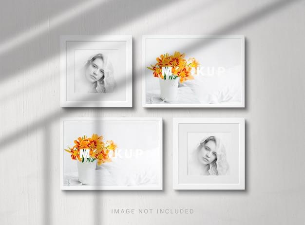 Progettazione di mockup di cornici fotografiche