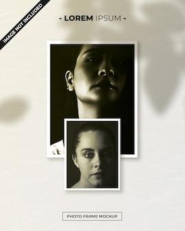 Mockup di polaroid con cornice per foto