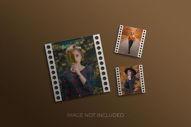 Mockup di set di cornici per foto psd premium