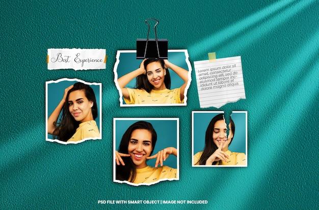 Set di cornici per foto mockup moodboard premium psd