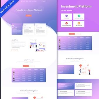 Interfaccia utente web di fotografia aziendale