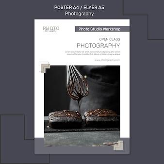 Modello di poster di fotografia