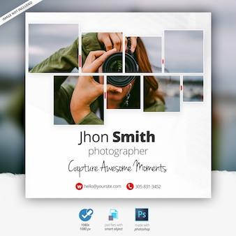 Fotografia banner pubblicitario web