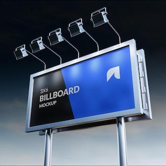 Mockup di cartelloni pubblicitari fotorealistici