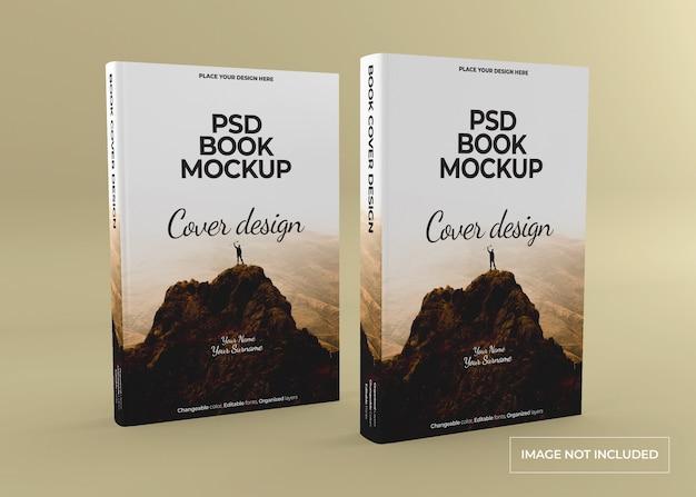 Mockup di libro con copertina rigida fotorealistico