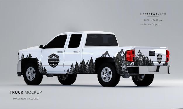 Pickup truck mock up dalla vista posteriore sinistra