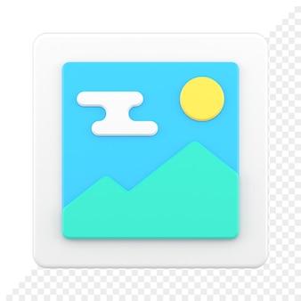 Immagine 3d icona