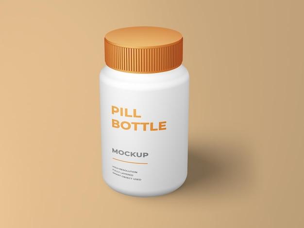 Mockup di bottiglia di pillola