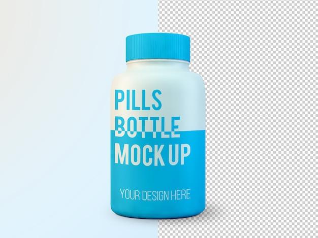 Mockup di bottiglia di pillole isolato