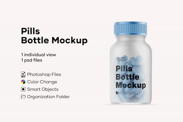 Pillole mockup di bottiglie