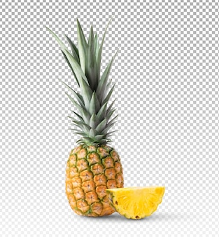 Frutta ananas isolata