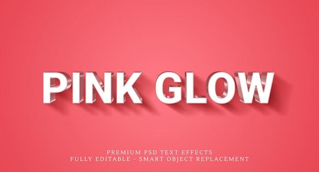Effetto bagliore rosa in stile testo, effetti di testo