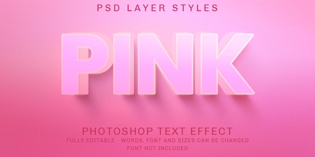 Effetti di testo modificabili a tinta unita rosa