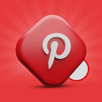 Icona 3d pinterest