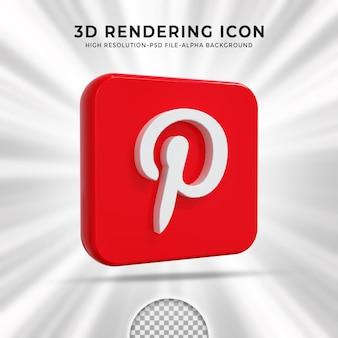 Pinterest logo lucido e icone social media story