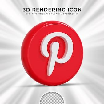 Logo lucido di pinterest e icone dei social media