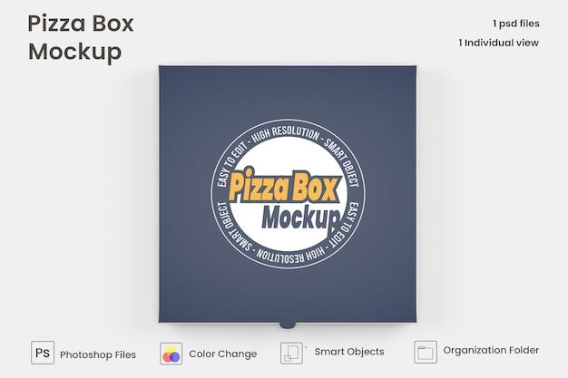 Scatola per pizza mock up isolata psd premium